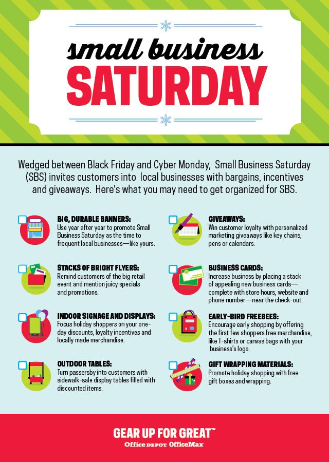Small Business Saturday holidays Office Depot Checklists - office depot resume paper