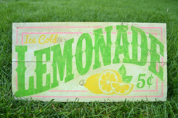 Burton Avenue: Old-Fashioned Lemonade Sign
