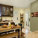 Contemporary yellow Kitchen in Benjamin Moore paint