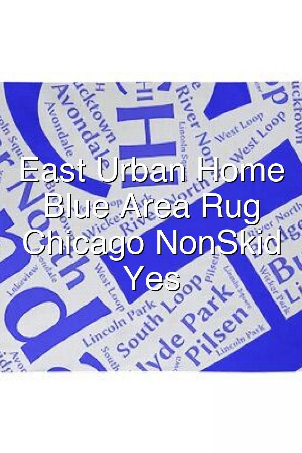 East Urban Home Flatweave Blue Area Rug City Chicago Nonskid Pad Yes In 2020 Nonslip Rug Chenille Rug Chicago City