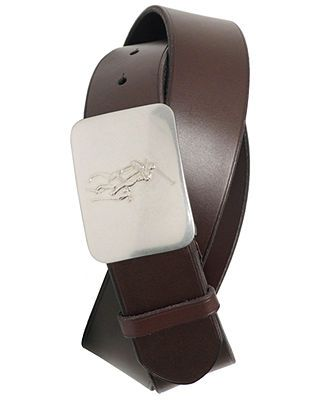Polo Ralph Lauren Accessories, Pony Plaque Leather Belt