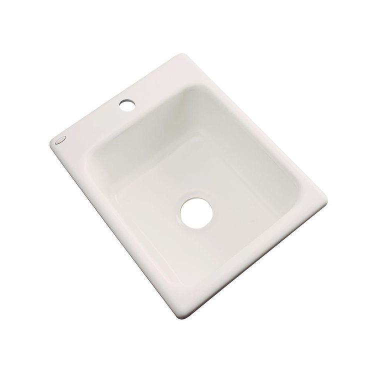Crisfield Drop-In Acrylic 17 in. 1-Hole Single Bowl Entertainment Sink in Natural