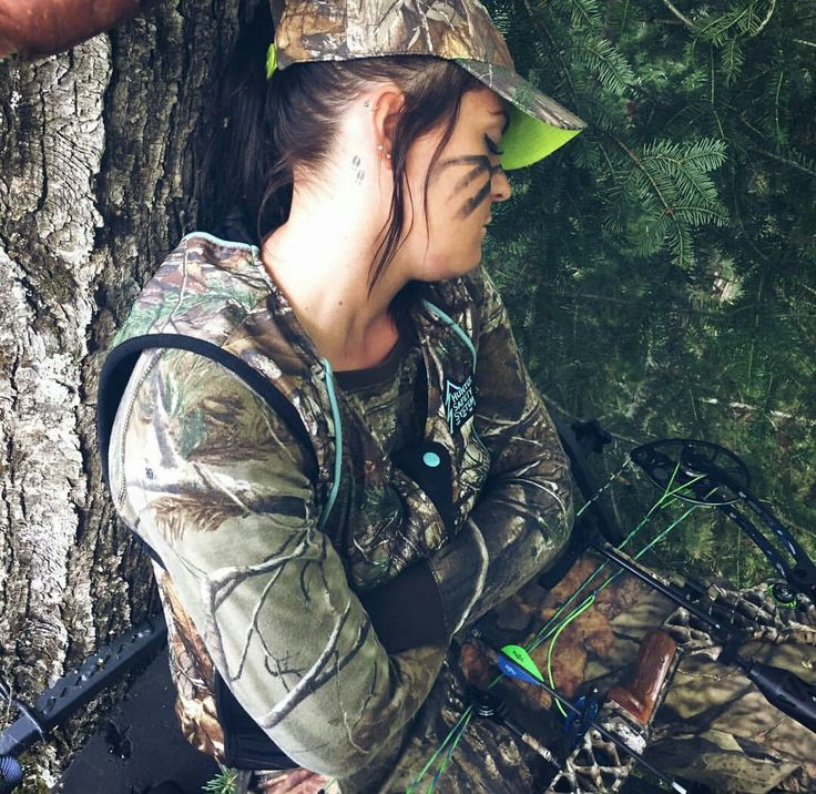 Nothing wrong with a little nap in the stand! Deer tracks tattoo huntress nap girls hunt too