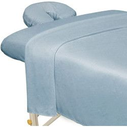 Premium Microfiber 3-Piece Sheet Set - Flat Sheet + Fitted Sheet + Fitted Face Space Cover / Wisteria - Premium Microfiber 3-Piece Massage Sheet Set is made from 100% ultra light microfiber material. The material is super soft and cozy yet durable enough