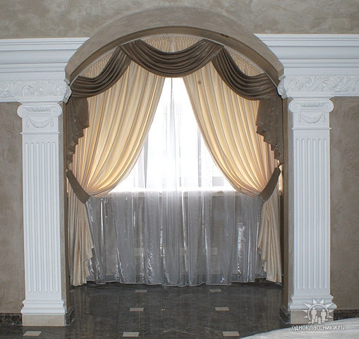 drapes ideas window arched arch curtains pin pinterest