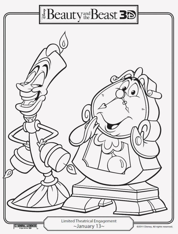 14 Disney Rides Coloring Pages Monster Coloring Pages Cartoon Coloring Pages Beauty And The Beast Drawing