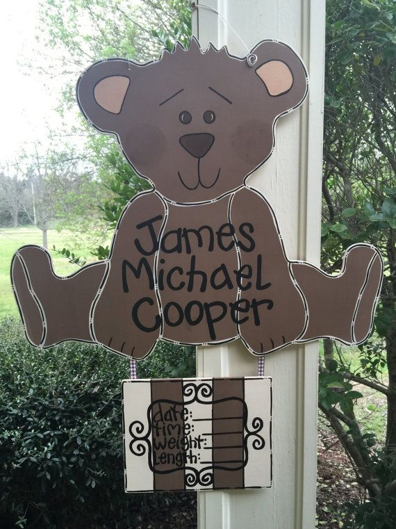 Hospital Door Hanger Teddy Bear Door Hanger By