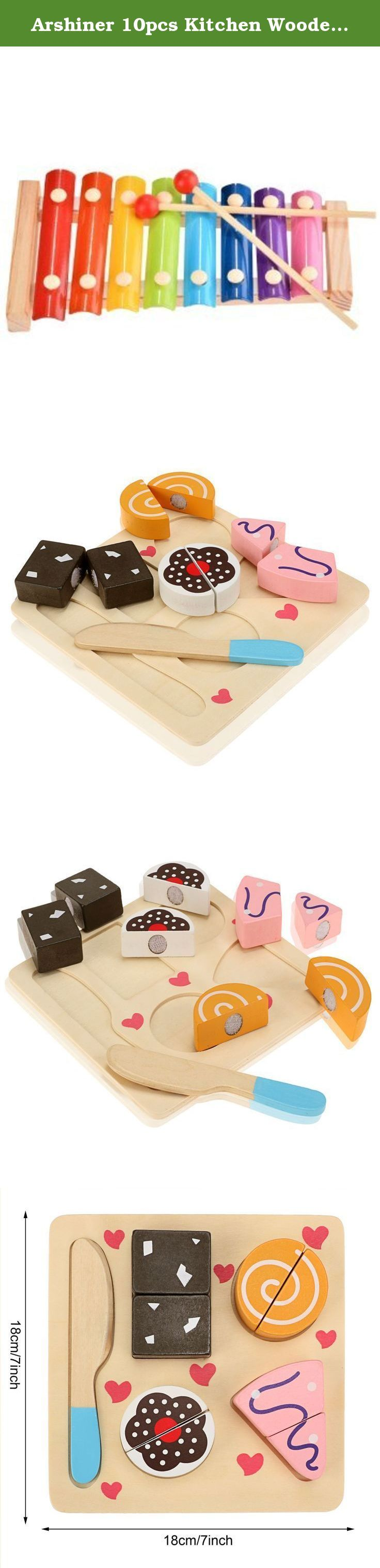 Arshiner 10pcs Kitchen Wooden Pretend Role Play Set Cutting Food for Kids. 100% Brand New. Material: Wood Color: Multicolor (Delivery at Random) Board Size (L x W): 18 x 18cm/7 x 7inch (Approx) Type: Cutter Toy Department Name: BabyPackage Content: 1 x Wood Toy Set Shape: Geometric shapes Quantity: 10pcs, Including 1 board, 1 Cutter and 8 slices Adding great fun for your baby Educational Development Cutter Toy, for play and learning Note: Due to the difference between different monitors…