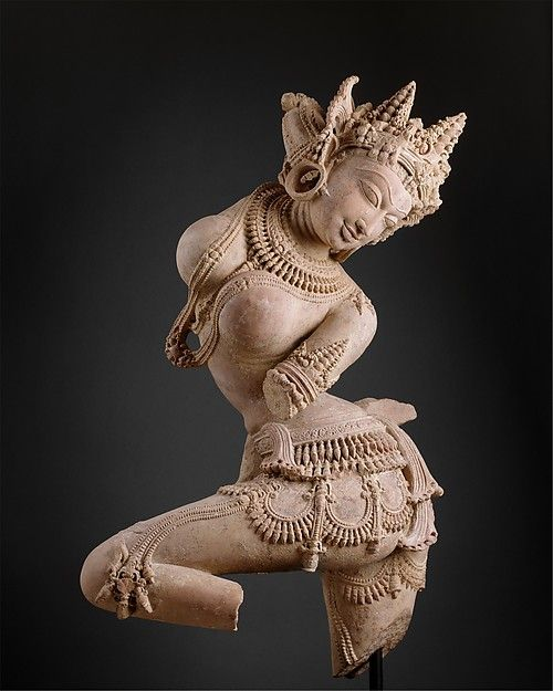 Dancing Celestial Deity (Devata), early 12th century. Indian. The Metropolitan Museum of Art, New York. Promised Gift of Florence and Herbert Irving (L.1993.88.2) #dance