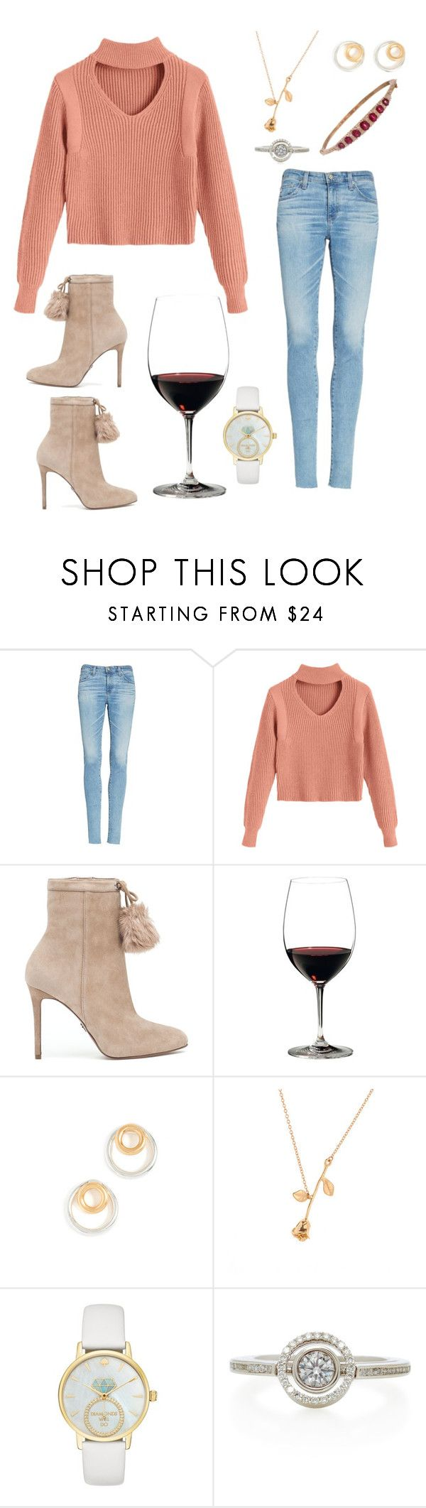 """""""Bachelor Premiere- Jade"""" by jporter2 ❤ liked on Polyvore featuring AG Adriano Goldschmied, MICHAEL Michael Kors, Riedel, Madewell, Kate Spade and Marie Mas"""