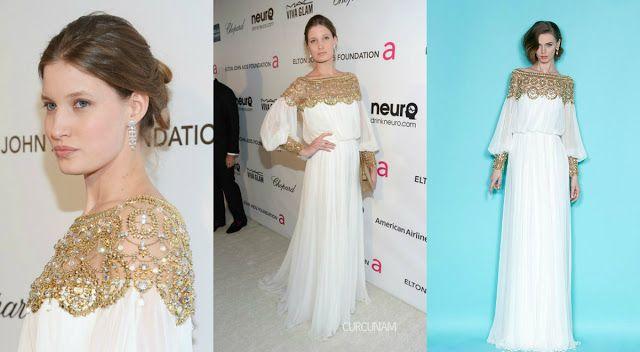 Curcunam: Laetitia Casta I Marchesa - 2013 Elton John Oscars Party | Moda Blogu, Kırmızı Halı, Moda, Stil, Trendler, Gece ve Gündüz Elbiseleri, Ünlülerin Kıyafetleri, Ödül Geceleri ve daha fazlası...