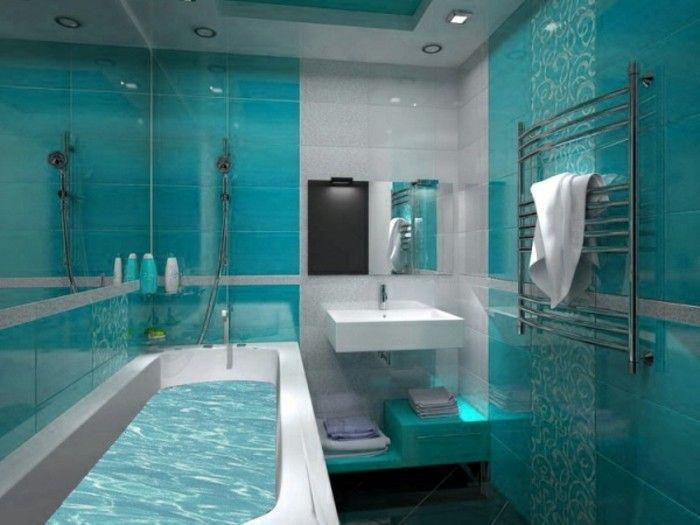 1000 id es sur le th me salle de bain turquoise sur for Accessoire salle de bain bleu turquoise