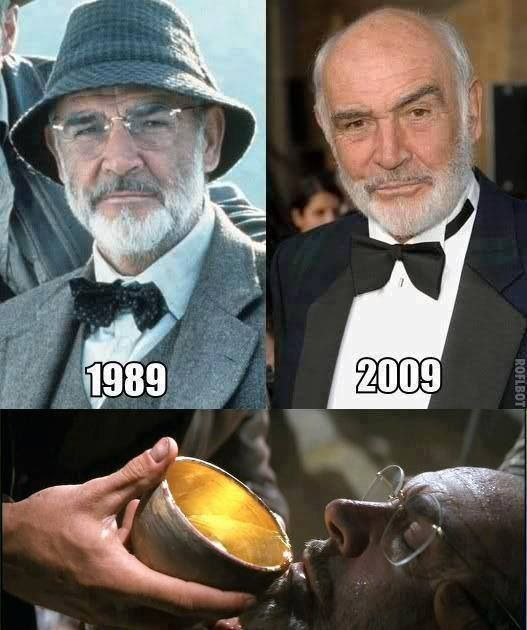 Sean Connery, Indiana Jones, Funny, Eternal Life - he literally looks the same