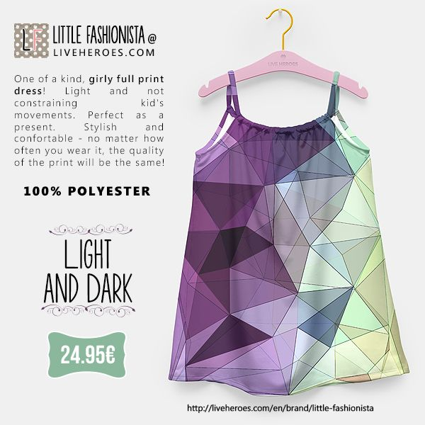 #geometry #colors #triangles #mesh #lines #polygons #poly #lowpoly #opposites #stylish #modern #abstract #art #girly #dress #girldress #liveheroes #liveheroesshop #littlefashionista