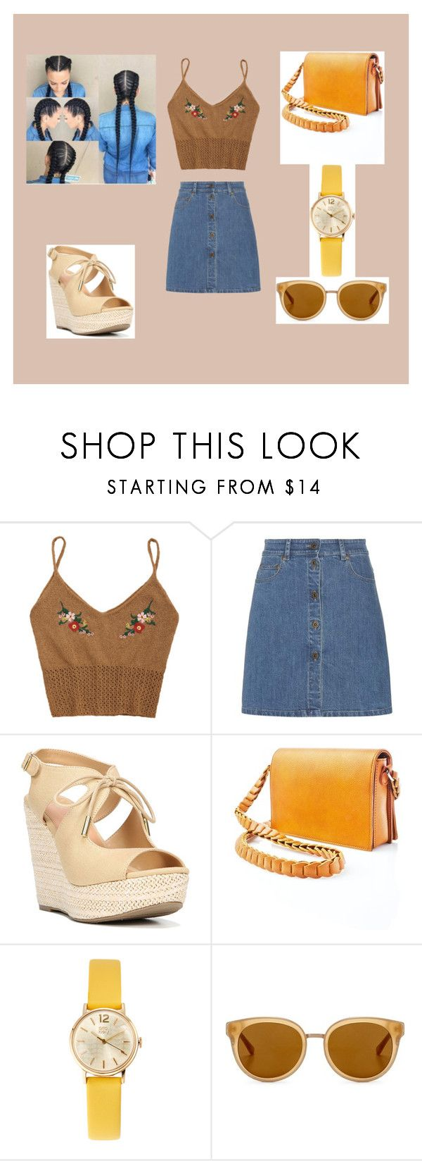 """hufflepuff"" by frencyl on Polyvore featuring moda, Miu Miu, Fergalicious, Street Level, Orla Kiely e Draper James"