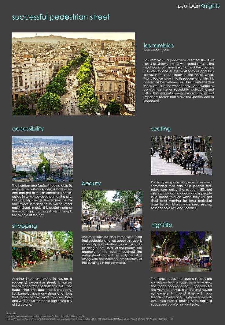 Las Ramblas - Barcelona  Successful pedestrian street