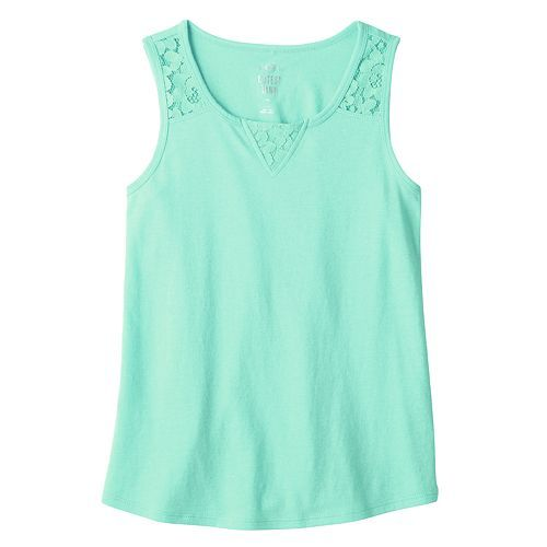 Girls 7-16 & Plus Size SO Lace Shoulder Tank Top