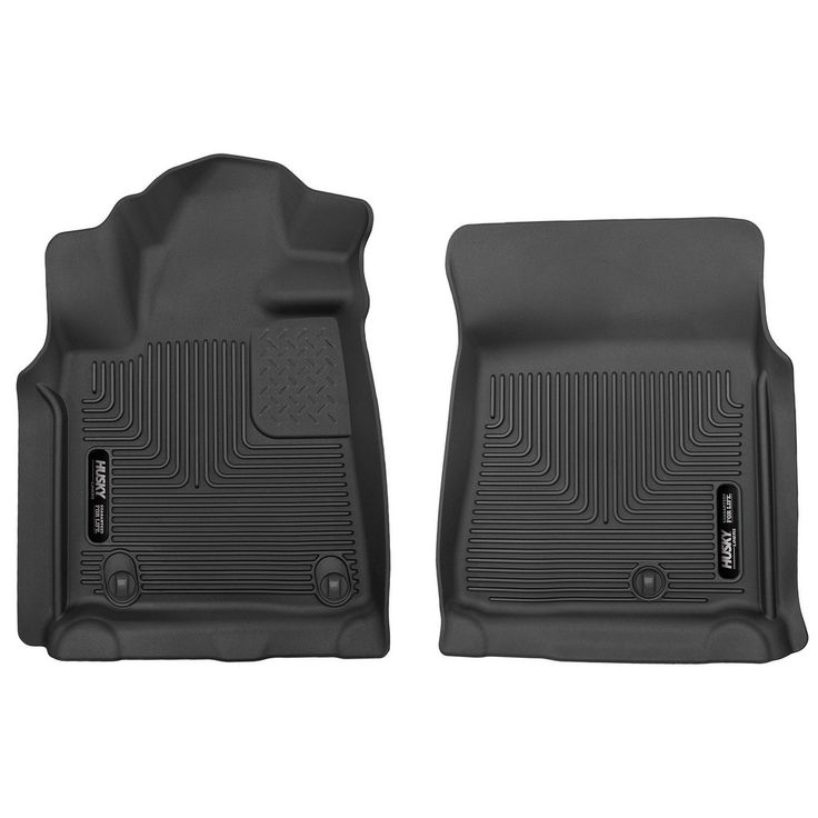 Husky X-act Contour 2007-2011 Toyota Tundra DoubleCab Black Front Floor Mats/Liners