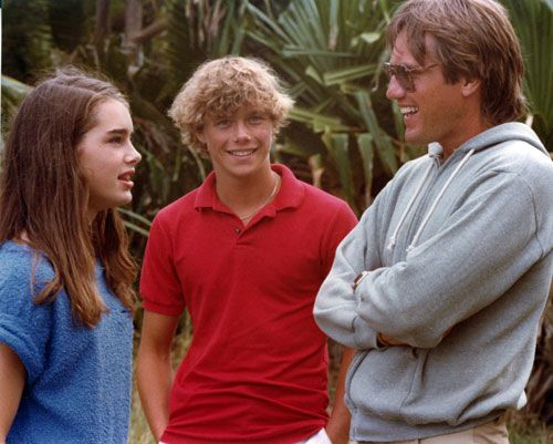 Brooke Shields and Christopher Atkins on the set of The ...