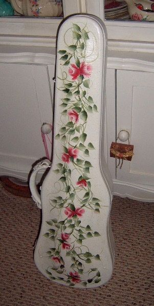 20 OFF Fiddle Case Violin Case Hand Painted Roses by CissysCrafts, $50.00
