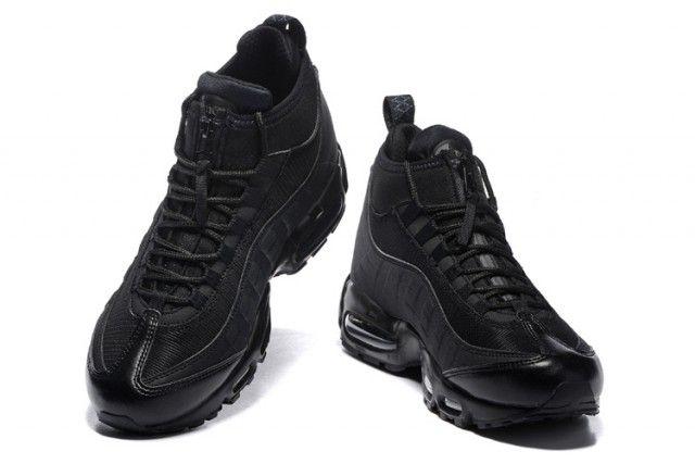 Mens Nike Air Max 95 Winter Sneakerboot Running Shoes Triple Black 806809 002 806809-002