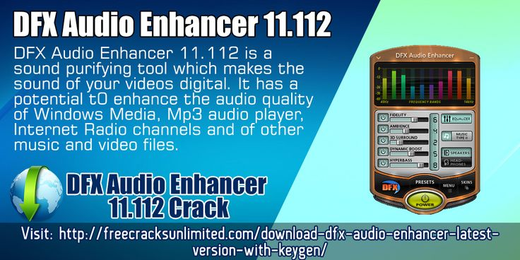 FX Audio Enhancer 11.112 is a sound purifying tool which makes the sound of your videos digital. It has a potential t0 enhance the audio quality of Windows Media, Mp3 audio player, Internet Radio channels and of other music and video files.