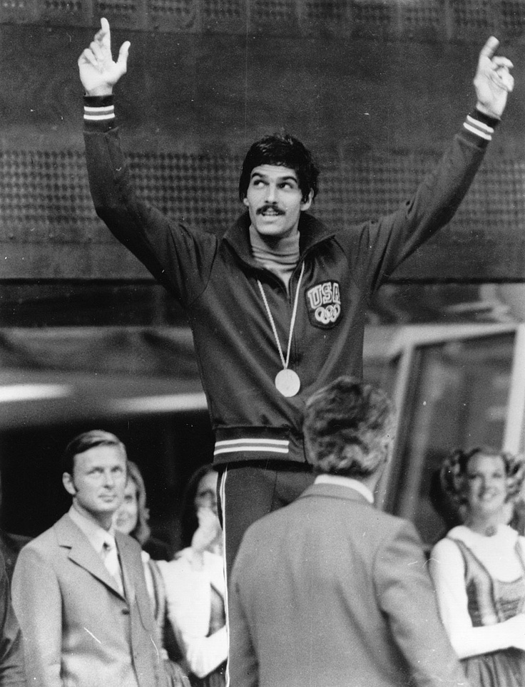 American swimmer Mark Spitz on the top step of the podium for the 100m butterfly. In all, Spitz won no fewer than seven gold medals at the Olympic Games in Munich: in the 100m butterfly, 200m butterfly, 100m freestyle, 200m freestyle, 4x100m freestyle relay, 4x100m medley and the 4x200m freestyle relay. Mark Spitz held the record for the largest number of gold medals won at a single edition of the Games for 36 years. ©Keystone