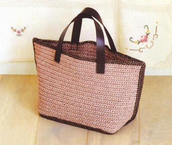 PDF pattern--crocheted bag B164R affia bag handbag casual bag everyday bag tote, diaper bag