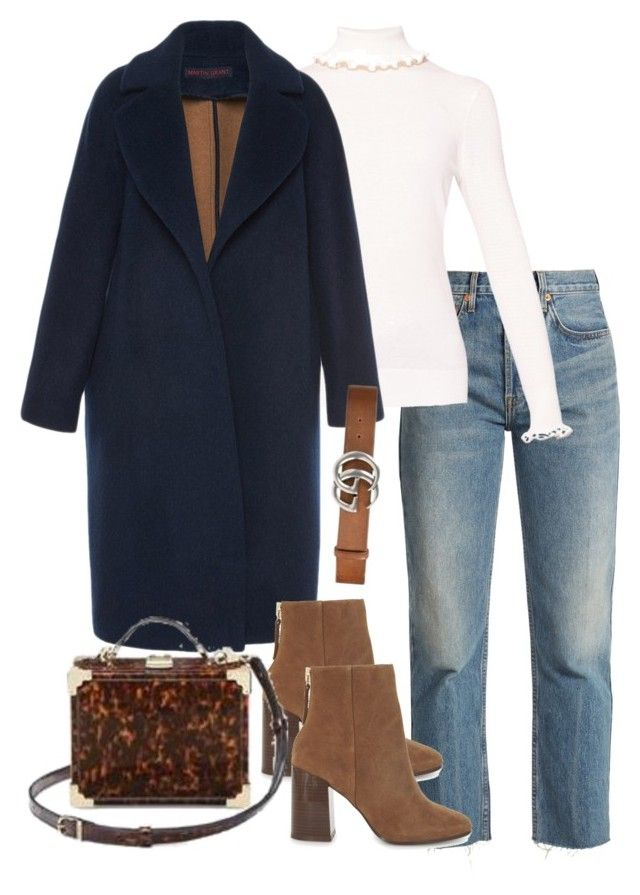 """""""Untitled #5417"""" by theeuropeancloset on Polyvore featuring RE/DONE, Ted Baker, Martin Grant, ALDO and Gucci"""