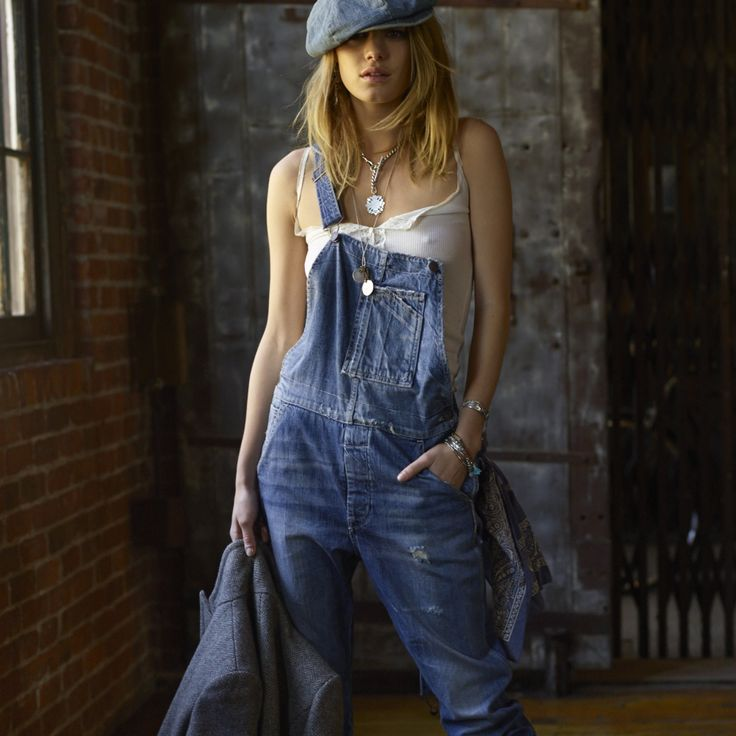 More than a lived-in look: Camille loves her Denim and Supply overalls. See her other favorites at: denimandupply.com/projectwarehouse