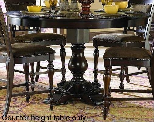 Counter Height Pedestal Base : ... Counter Height Dining Table Pedestal Base In Rustic Burnished Oak