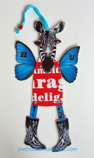 Jumping Jack zebra model by danish artist Line Frøslev www.linefroeslev.dk