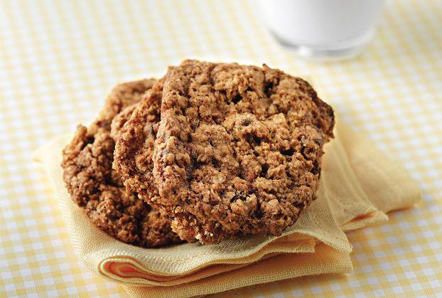 """Healthy Oatmeal Cookies"" with raisins & dark chocolate!"
