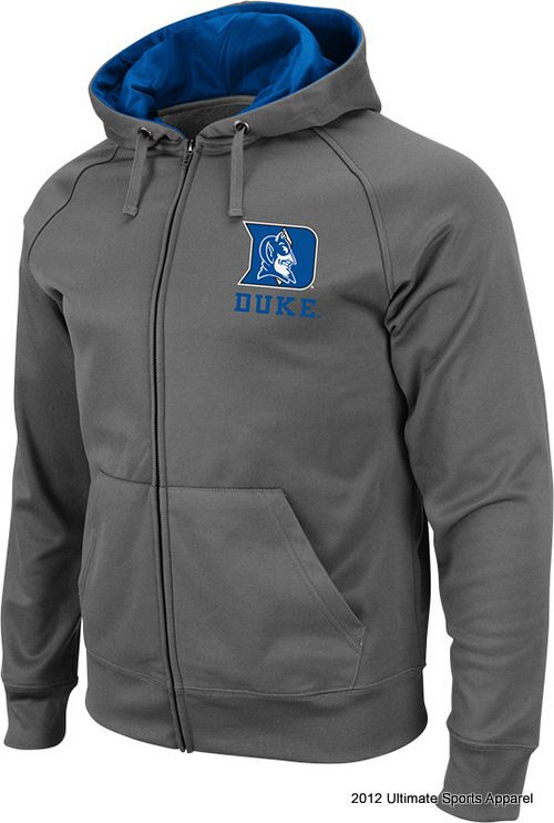DUKE - college apparel - Bootleg Full Zip Fleece (Charcoal) - Fall Apparel