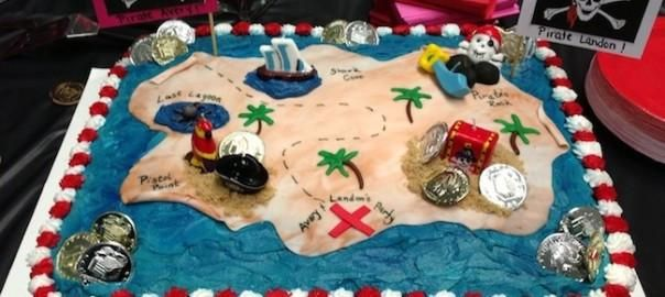 I came across the inspiration for my sons' pirate themed birthday cake on Pinterest (where else!). The catch was that we were having 30 kids plus adults so over 50 people total. Thus, I needed a sheet cake but I wasn't willing to spend the money for a professionally done cake on such a large scale. Enter my secret weapon Costco. Previously,I had transformed a Costco cake into a construction zone (read the blog post here) and thought that the store could potentially help me complete my…