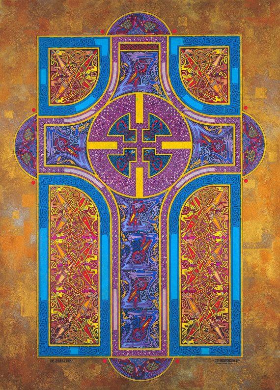Astonishing! Celtic Art Print The Shining Path 23x16. by JimFitzPatrickArtist, $195.00