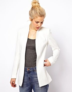 ASOS Premium Blazer with Longline Lapel. Need me a solid white blazer! Very classy and versatile. Would prefer to hit at the top of the hips / right below the waist (my torso isn't that long).