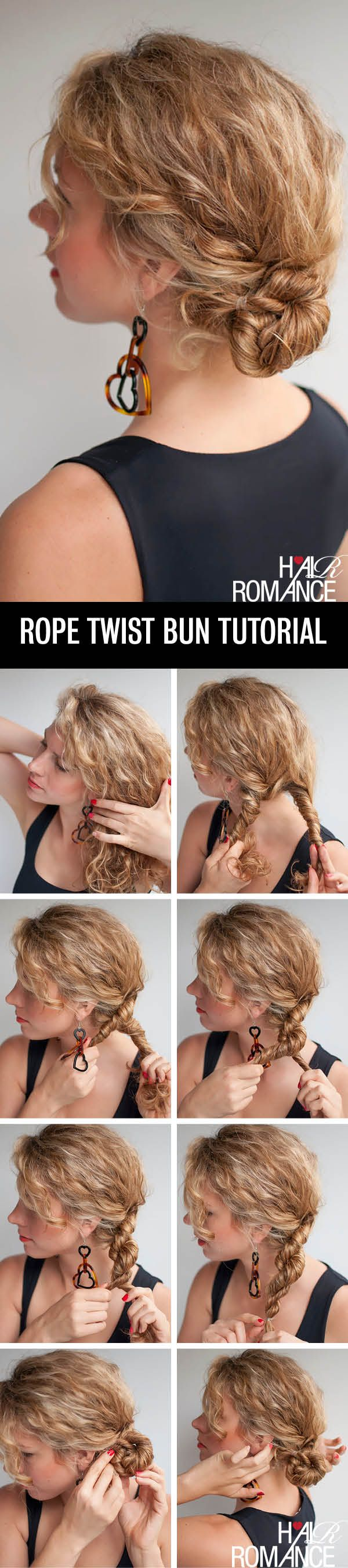 Awesome 1000 Ideas About Curly Bun Hairstyles On Pinterest Curly Bun Short Hairstyles Gunalazisus