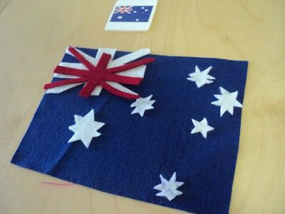 A Little Learning For Two: Felt Flags - Australia Day