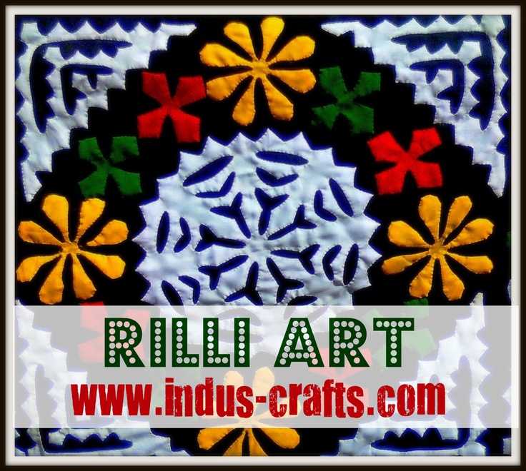 Beautiful applique art demo handmade by Sindhi women artisans of www.indus-crafts.com