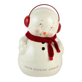 """Department 56: Products - """"Snowman Cookie Jar"""" - View Products"""