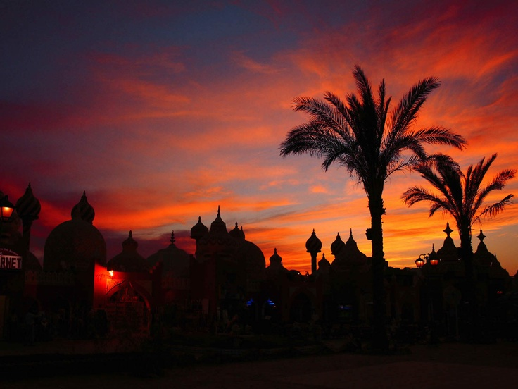 Sunset in Egypt's Sharm el-Sheikh, the  City of Peace.