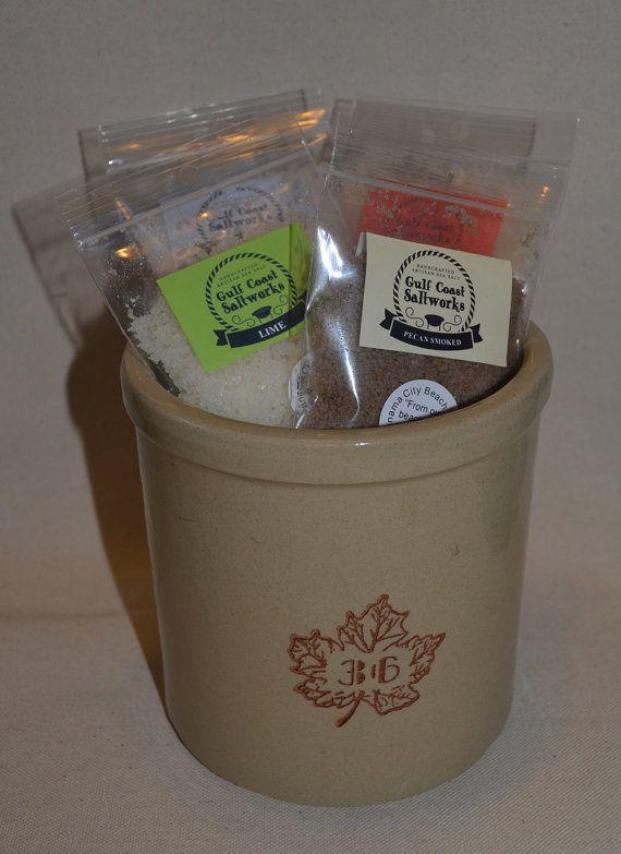 Sea Salt Gift Set in Vintage Maple Leaf by Gulf Coast Saltworks