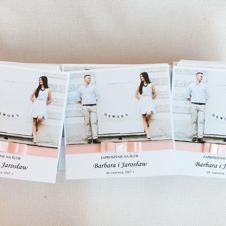 Zaproszenie ze zdjęciem? Fajny sposób zapraszania na ślub #zaproszenia #zaproszenie #slub #wesele #zdjęcie #oryginalne #invitation #pudrowyróż
