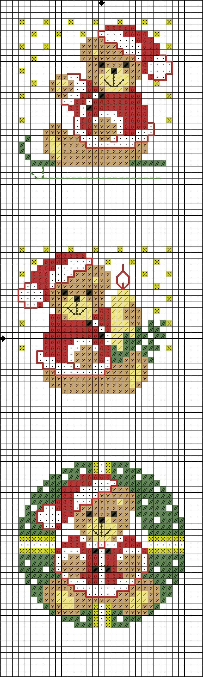 Teddy Christmas pattern