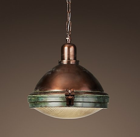 Prismatic glass copper pendant light at restoration hardware a nice selection of other lighting
