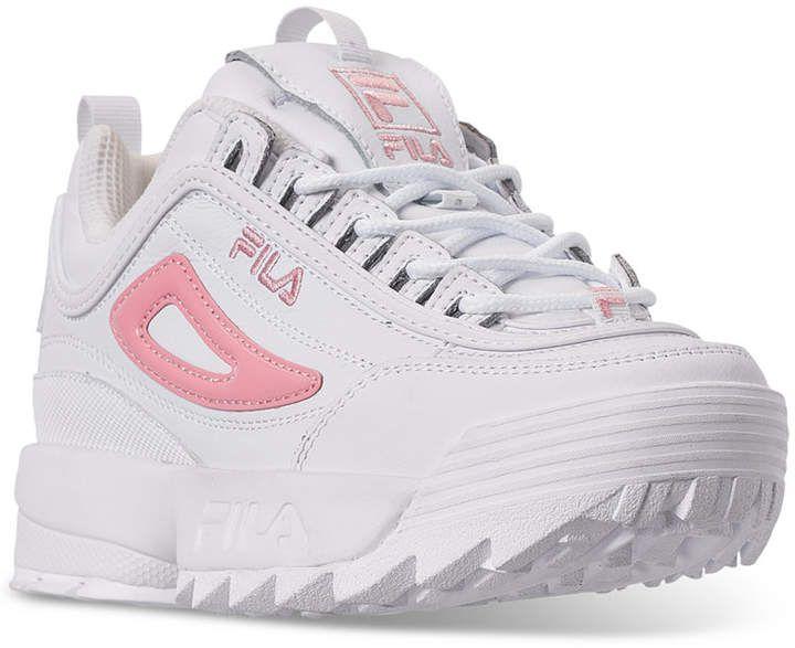 Fila Girls' Disruptor 3 Metallic Flag Casual Sneakers from