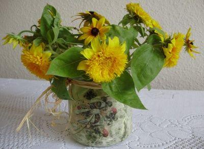 cudARTeńka: Flakon na kwiaty ze słoika