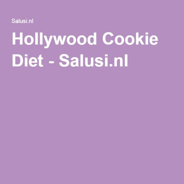 Hollywood Cookie Diet - Salusi.nl