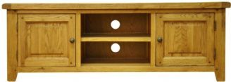 Stamford Rustic Country Oak Widescreen TV Media Cabinet